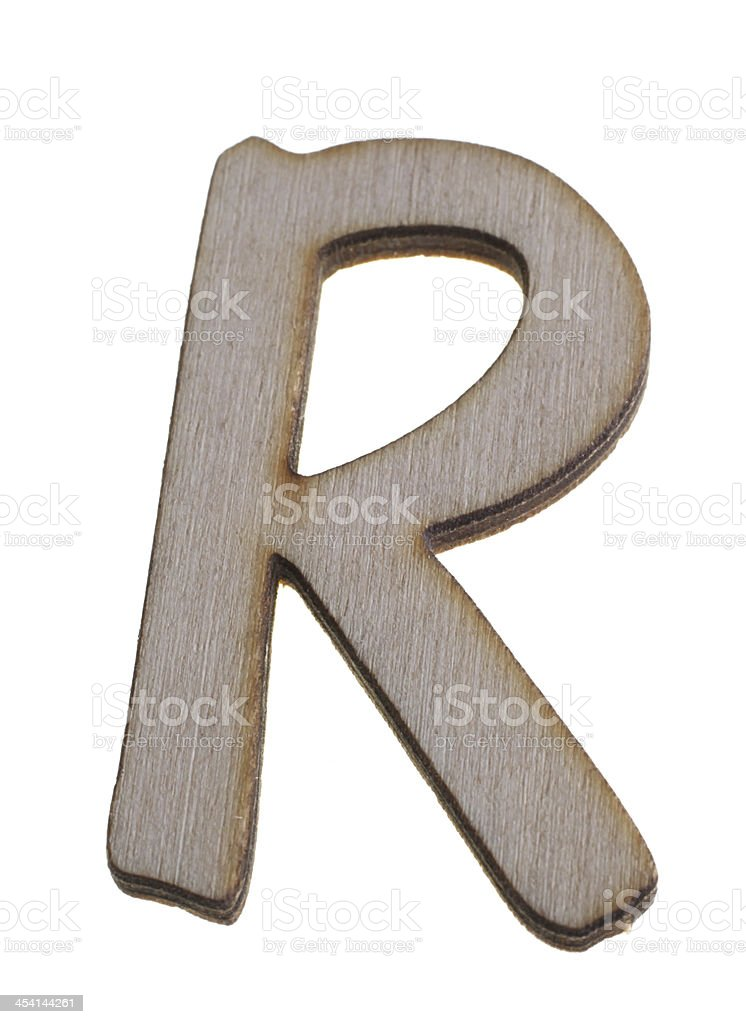 Treen Capital Letter R royalty-free stock photo