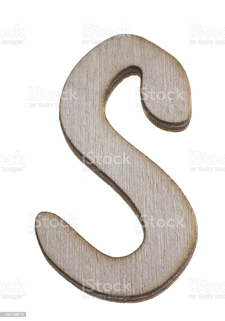 Treen Capital Letter S royalty-free stock photo
