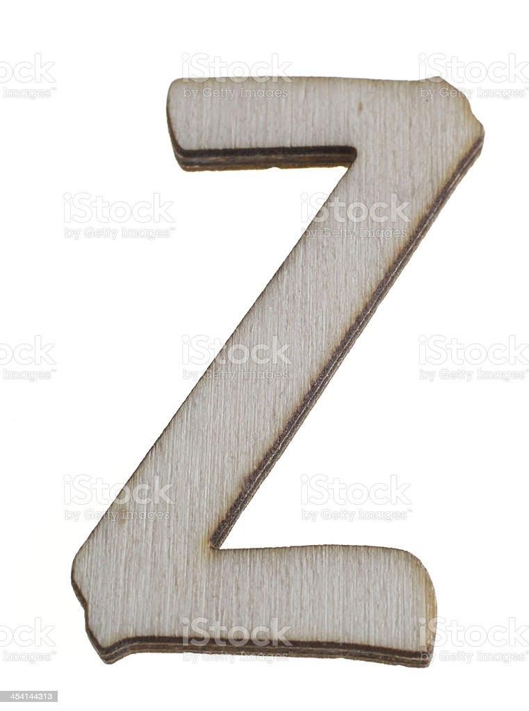 Treen Capital Letter Z royalty-free stock photo