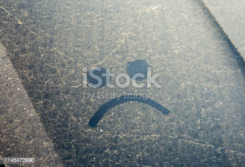 istock Trees and flowers pollen covering car exterior in spring, witch can damage your car's paint concept. 1145472690