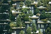 istock Trees grow on the balconies 1200634945