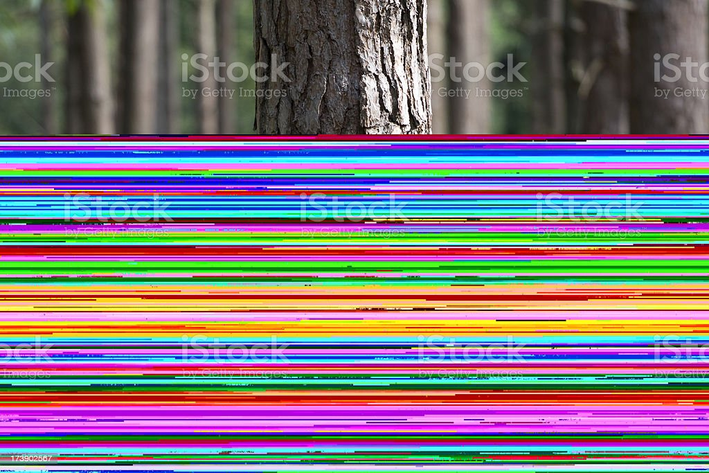 trees in the New Forest Hampshire England stock photo