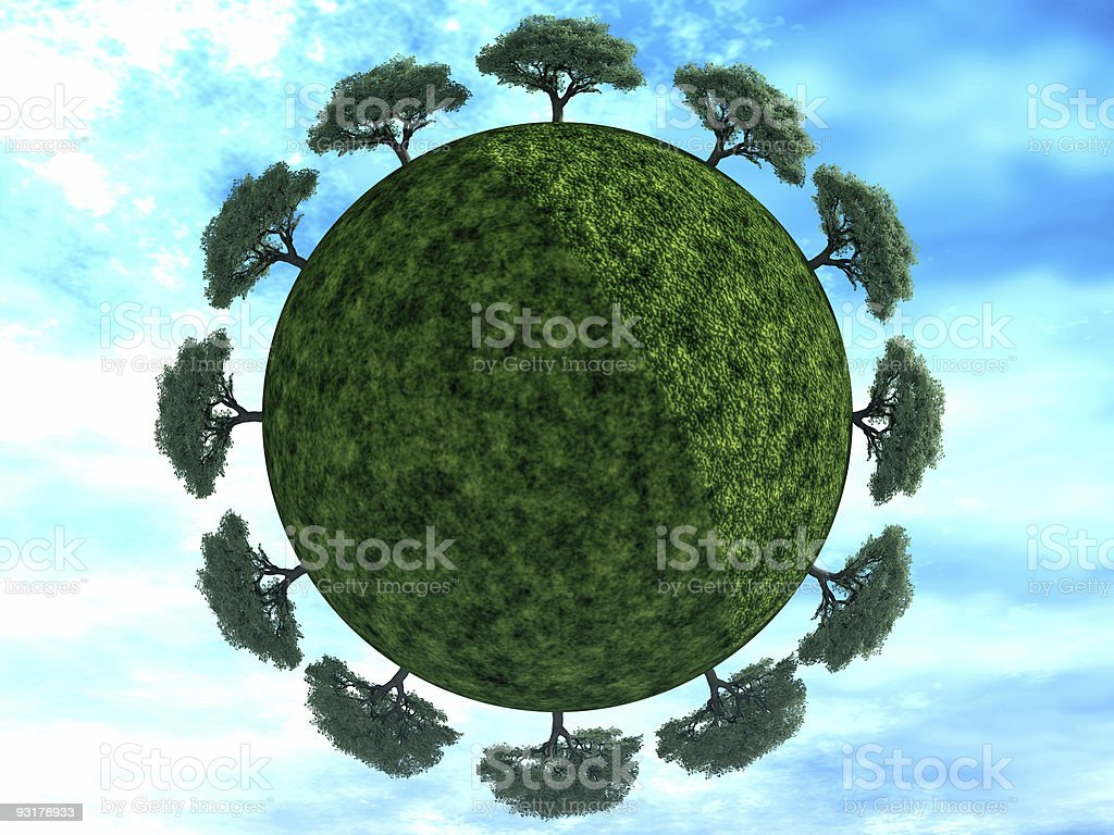 trees on earth royalty-free stock photo