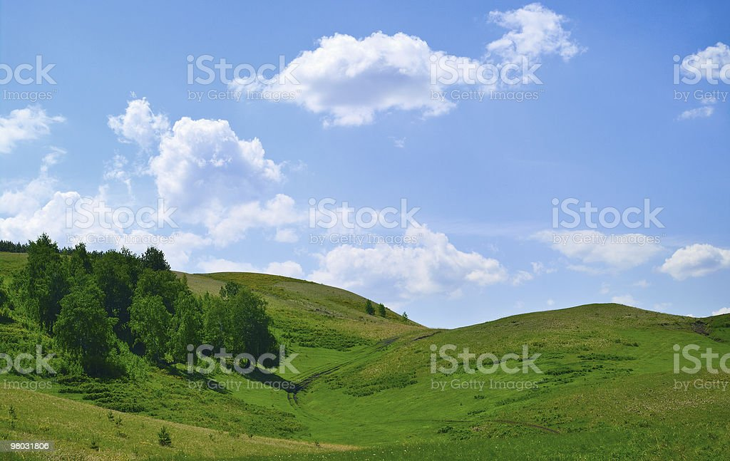 Trees on hills of the Ural mountains royalty-free stock photo