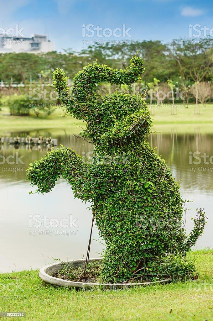 Tree-shaped elephants stock photo