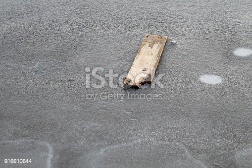 Treibholz, See, Eis
