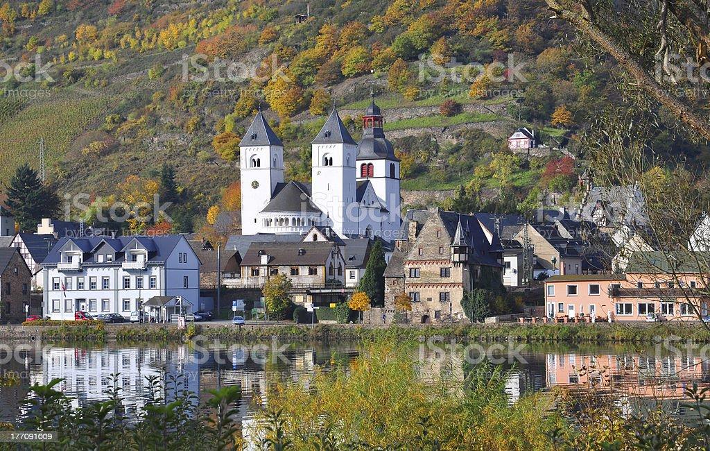 Treis-Karden,River Mosel,Germany stock photo