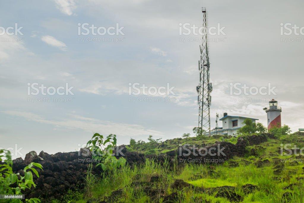 Trek to a Lighthouse stock photo