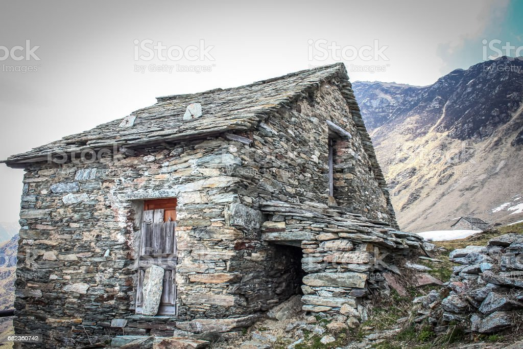 Trekking alpino Pianello Rimella foto stock royalty-free