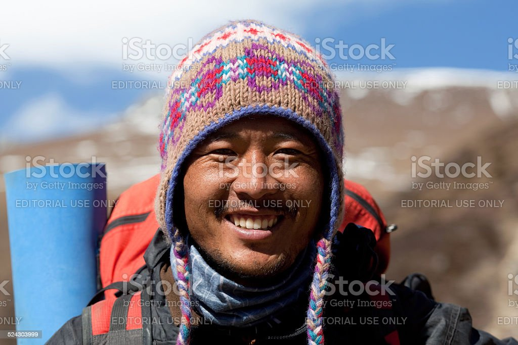 Trekking Guide, Nepal stock photo