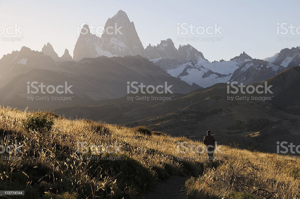 Trekking in El Chalten, Patagonia, Argentina, South America stock photo