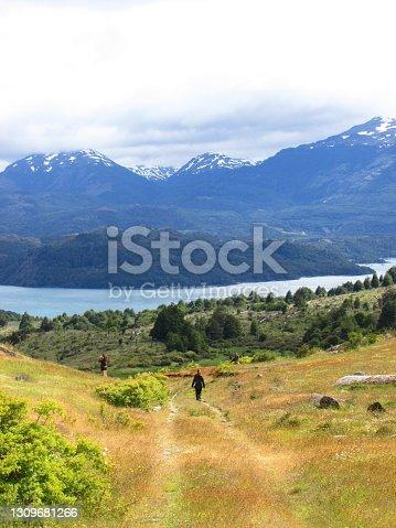 istock Trekking in General Lake Carrera, Patagonia 1309681266
