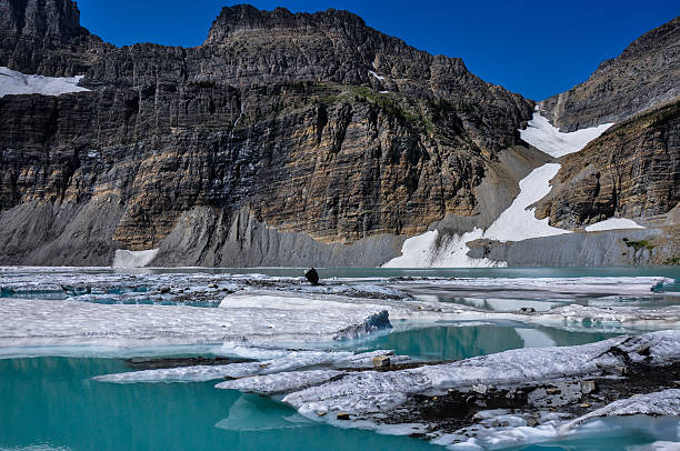 trekking in grinnel lake trail, glacier national park, montana, - going to the sun road stock pictures, royalty-free photos & images