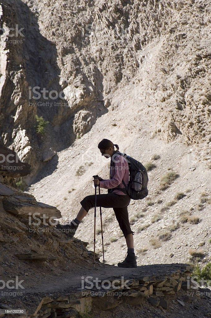 Trekking in Ladakh stock photo
