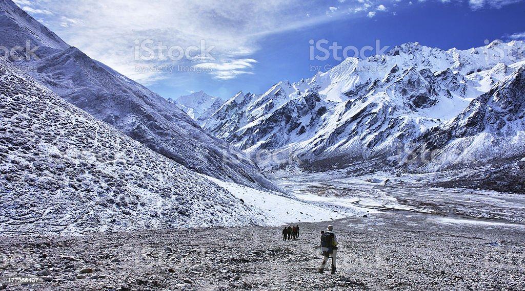 Trekking in Nepal, Langtang valley stock photo
