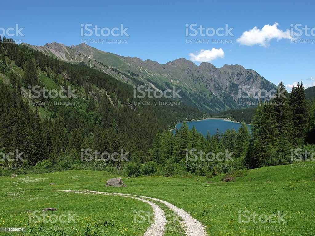 Trekking in the Bernese Oberland royalty-free stock photo
