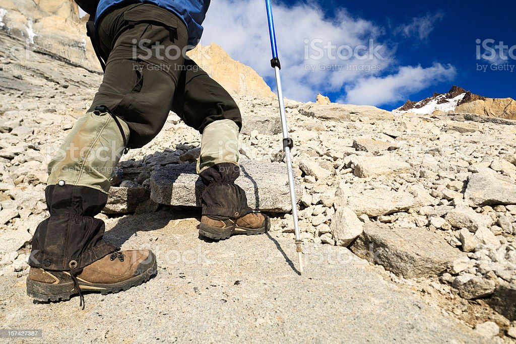 Trekking in the Mountains royalty-free stock photo