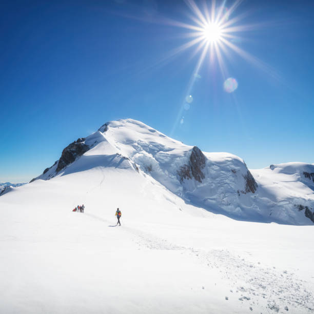 Trekking auf den Gipfel des Mont Blanc in den französischen Alpen – Foto