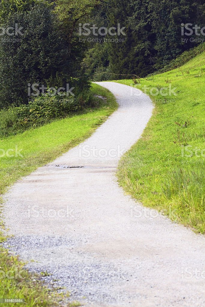 Trekking trail in Allgäu royalty-free stock photo