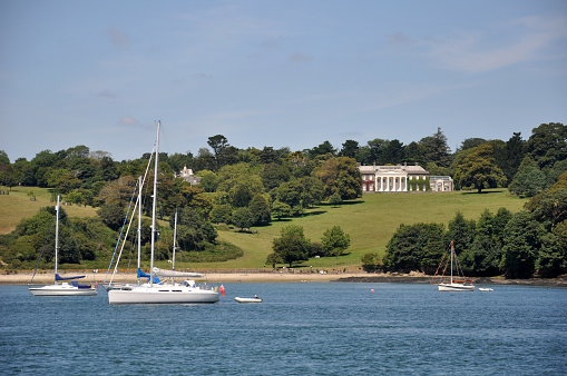 Trelissick House from the Falmouth Estuary