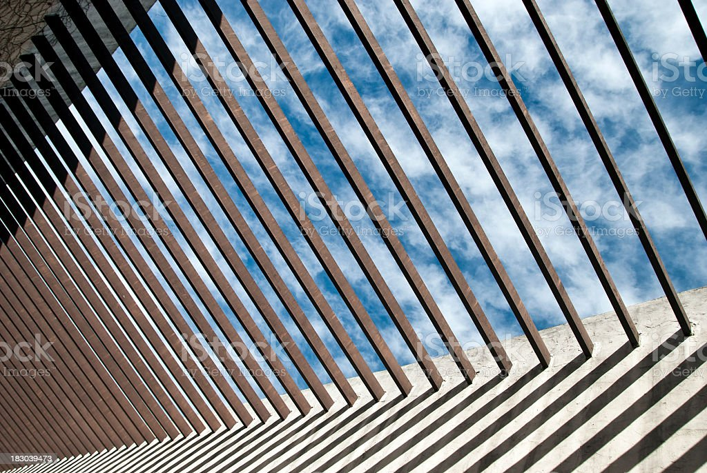 Trellis roof royalty-free stock photo
