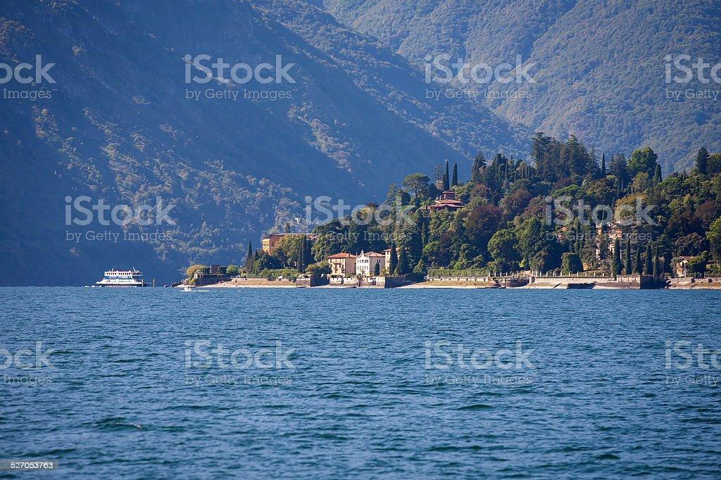Tremezzo on Lake Como stock photo