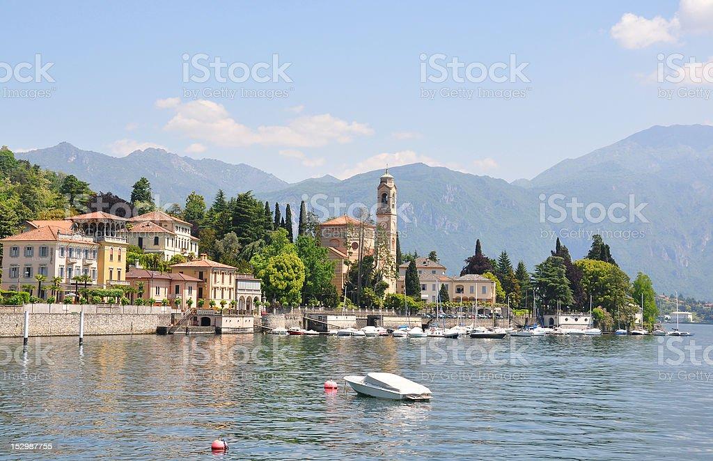 Tremezzo town at the famous Italian lake Como stock photo