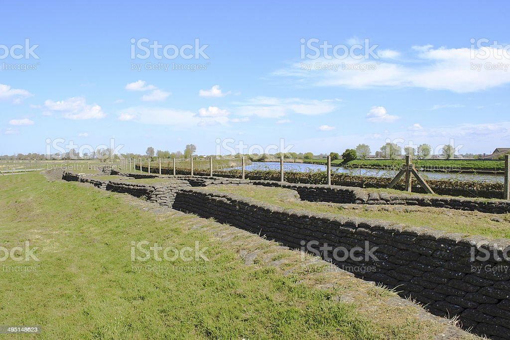 Trench of death world war 1 belgium flanders fields stock photo