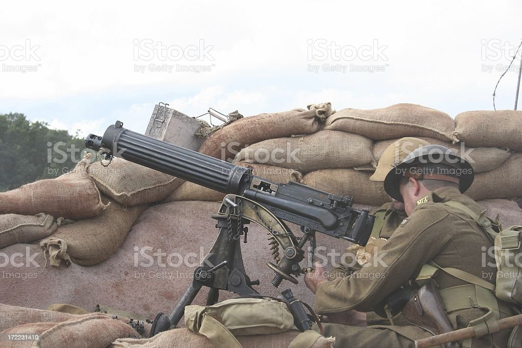 WWI Trench royalty-free stock photo