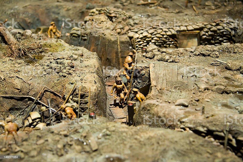 Trench Warfare royalty-free stock photo