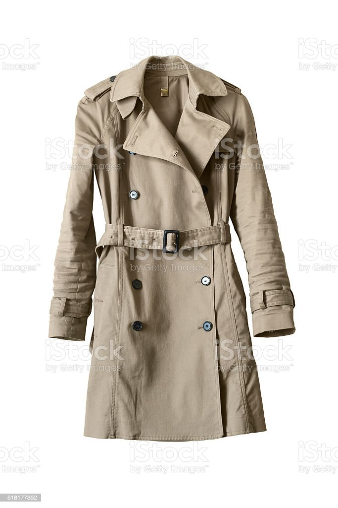 Trenchcoat stock photo