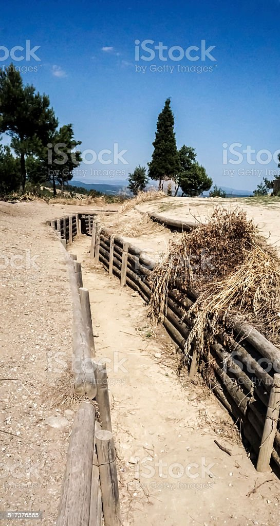 Trenches at Gallipoli stock photo