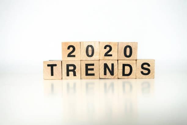 2020 trendleri - diyagram stok fotoğraflar ve resimler