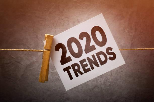 2020 trends stock photo