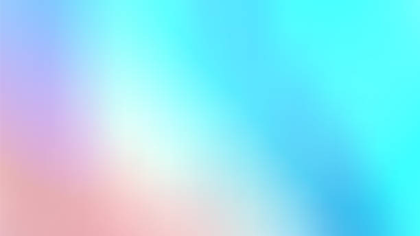 Trendy Abstract Holographic Iridescent Background. Pastel Colorful Backdrop Trendy Abstract Holographic Iridescent Background. Pastel Colorful Gradient. Retro Futurism. 80s. Vaporwave style. pastel colored stock pictures, royalty-free photos & images