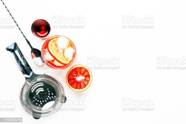Trendy alcoholic cocktail negroni with dry gin red vermouth and red picture id1142352016?b=1&k=6&m=1142352016&s=612x612&h=ql4lcznohrioe9bff0ozpl2gr2hzfforzue aaj9wuo=