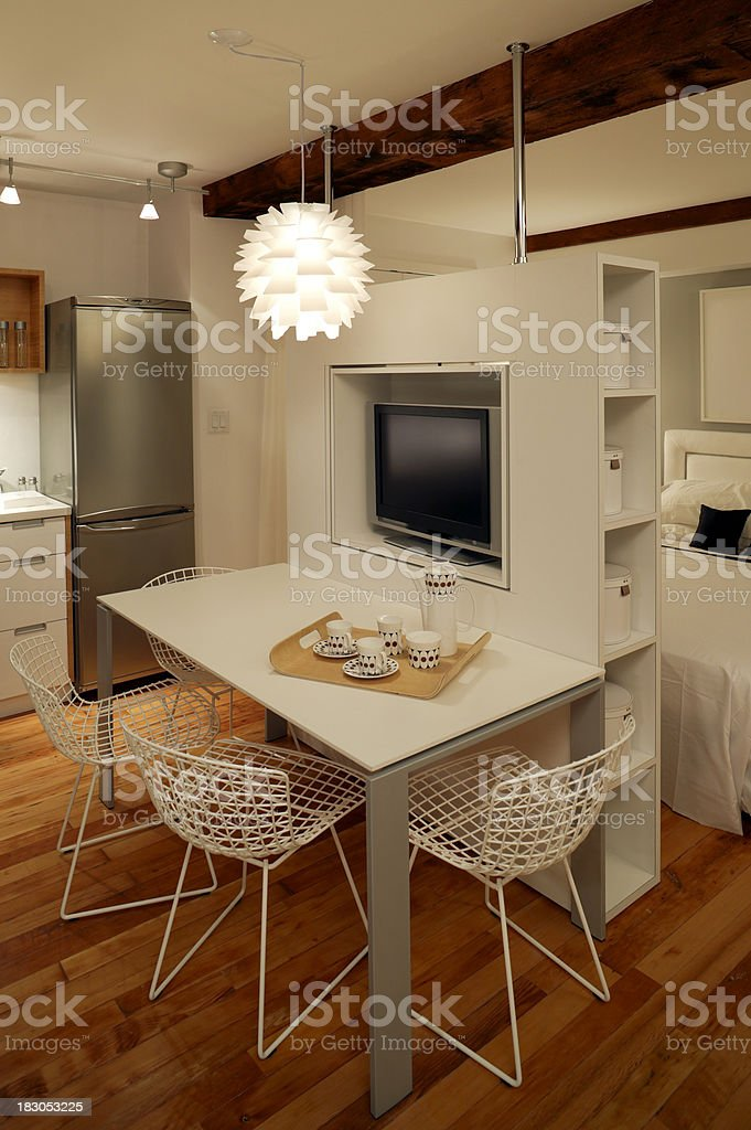trendy apartment furnished royalty-free stock photo