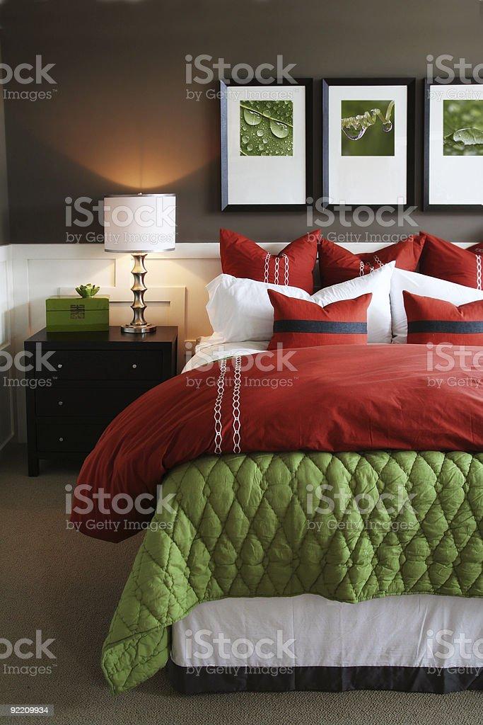 Trendy bedroom stock photo