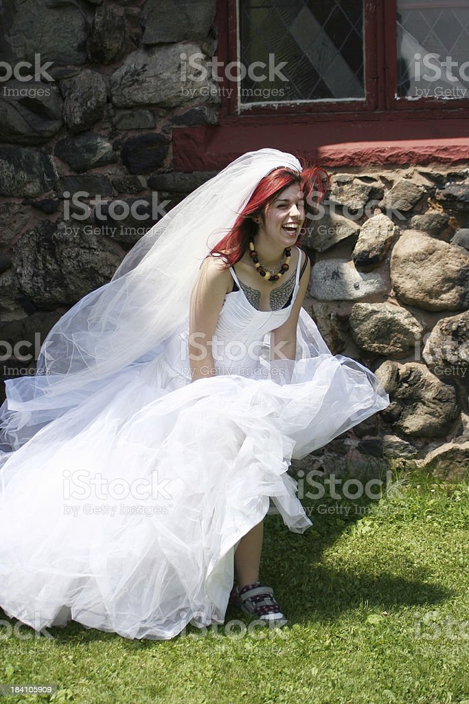 Trendy Bride royalty-free stock photo