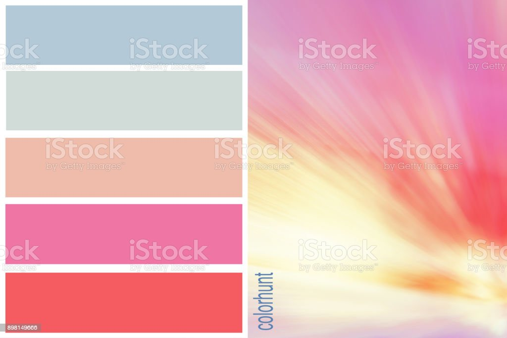 Trendy color palettes of blured color rainbow inspiration. Harmony...