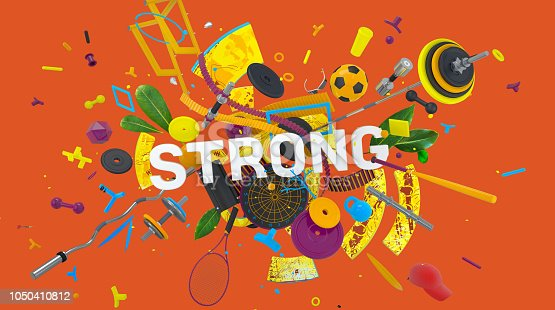 istock Trendy concept Strong 1050410812