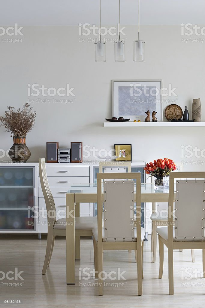 trendy dining room royalty-free stock photo