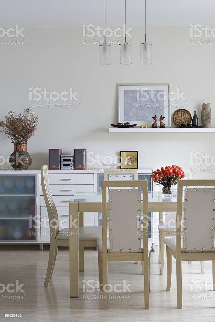 trendy dining room stock photo
