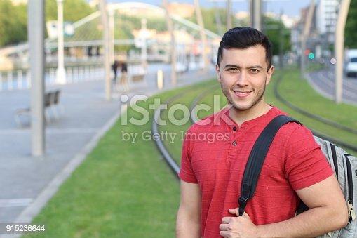istock Trendy ethnic student heading to the university 915236644