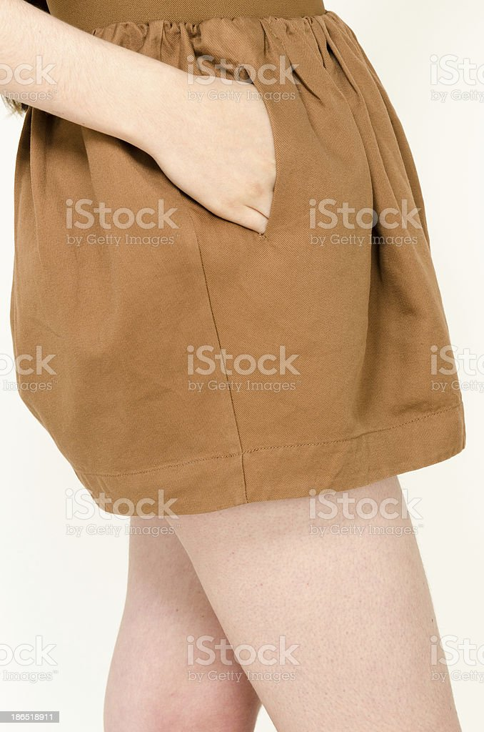 Trendy fashion skirt royalty-free stock photo