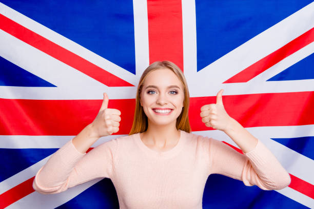 trendy fashion style stylish national perfect international europe two double foreign beauty excellent people person concept. portrait of cute smart pretty active teen age girl making fingers up - english foto e immagini stock
