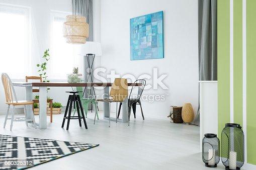 660325278istockphoto Trendy flat with dining room 660325312
