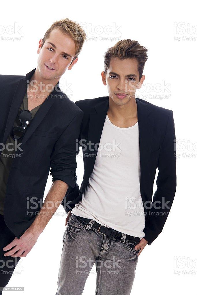 Trendy Gay Couple royalty-free stock photo