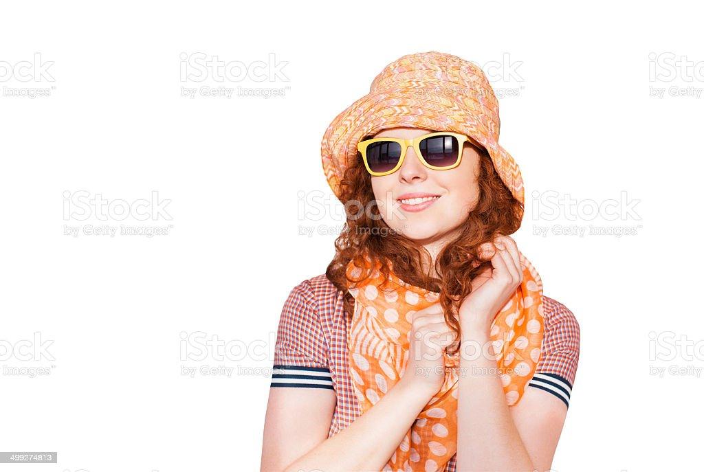 Trendy girl portrait stock photo