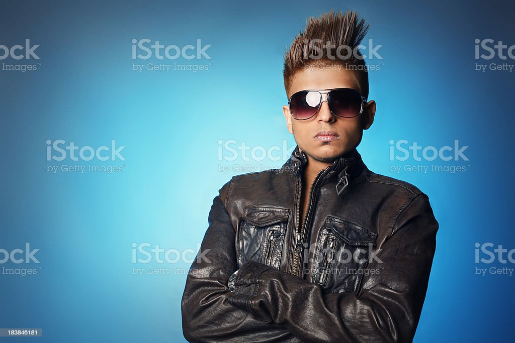Trendy hair portraits royalty-free stock photo